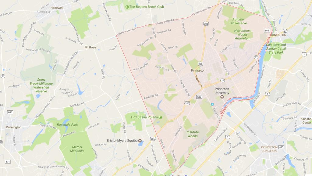 Princeton NJ Map