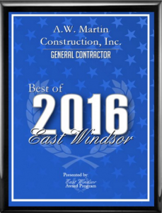 Best General Contractor of East Windsor 2016