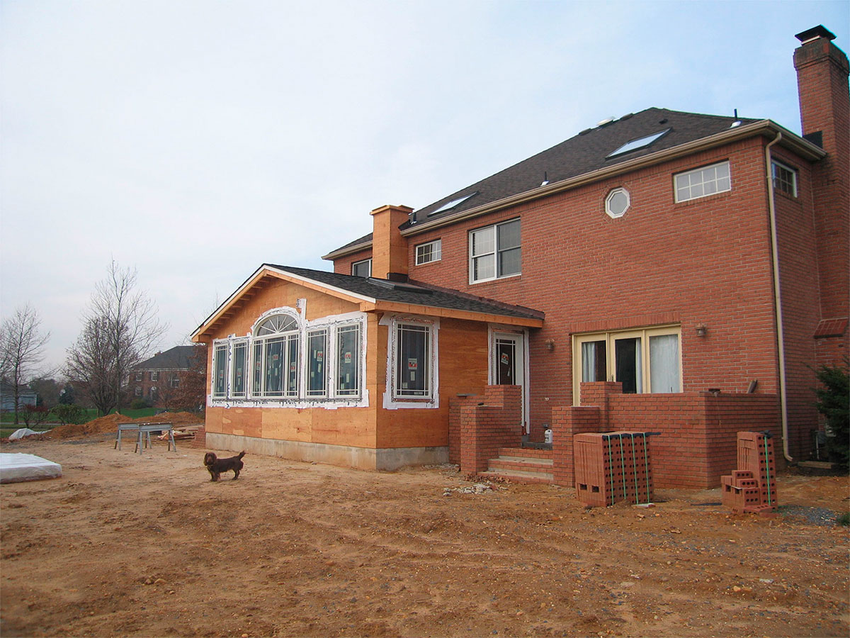 sunroom during construction